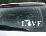 Love Michigan Vinyl Car Decal V2