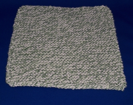 Green and White Dish Cloth
