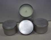 Lotion massage soy candle