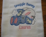 BURP CLOTH - SNUGGLE BUNNY