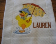 BURP CLOTH - UMBRELLA DUCK