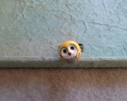 Adorable Yellow Owl Ring: Polymer Clay, Adjustable