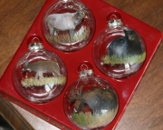 Large Animal Glass Ornaments