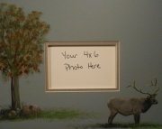 Elk picture mat
