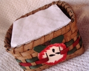 Napkin Apple Basket Handwoven