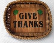 Handwoven Give Thanks Basket -Small