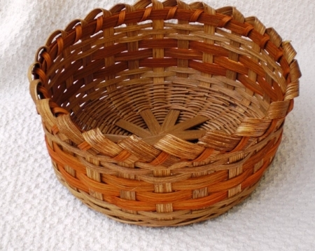 Old Salem Handwoven Basket in Orange