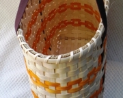 Large Tote Basket in Orange