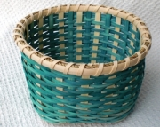 Teal Plain & Fancy Handwoven Basket