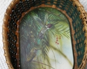 Hummingbird Basket Handwoven
