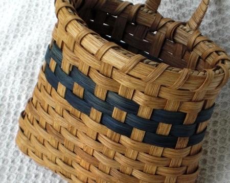 Door Basket Blue Handwoven