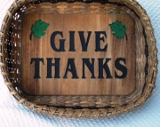 Handwoven Give Thanks Basket -Small