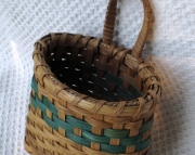 Teal Handwoven Door Basket