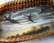 Morning Flight - Pheasants Handwoven
