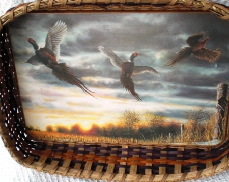 Morning Flight - Pheasants Handwoven