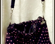 Black W/pink Polka Dot Purse