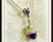 Purple Stone Pendant Necklace