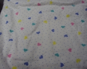 Fitted Flannel Crib Sheet - Hearts