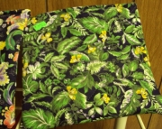 Quilted Cosmetic Bag - Multi Green