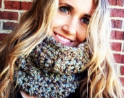 Earthy Colored Neck Warmer, Chunky Scarf, Womens Chunky Cowl, Warm Christmas Gift, Gift Guide 2012,