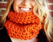 Pumpkin Orange CHUNKY COWL, thick neck warmer, chunky scarf, womens cowl, warm Christmas gift, gift