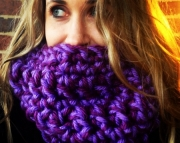 Extra Chunky, Extra Soft Purple Cowl