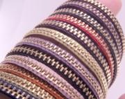 YOU CHOOSE Color Zippity Doo Dah 7 Inch Brass Zipper Bracelet with Clasp