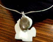 Michigan Petoskey Stone & Bone Pendant Necklace