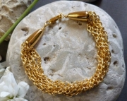Golden Chain Six Stranded Bracelet