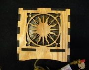Sun Themed Wooden lamp