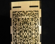 Fretwork Themed Wooden lamp