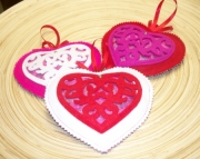 Heart Sachet filled with Rose Petals