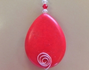 Red Teardrop Bead Necklace