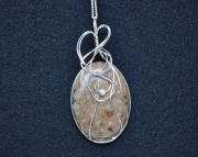 Sold! Wire Wrapped Petoskey Stone Necklace