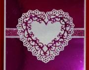 Foil Celtic Heart Valentine's Day Card, fuchsia