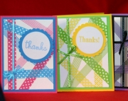 Washi Tape Thank You Cards Set of 4