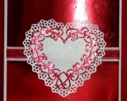 Foil Celtic Heart Valentine's Day Card, Red