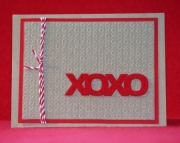 XOXO Kraft Valentine's Day Card