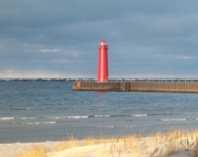 Muskegon South Pier Light Picture Puzzle