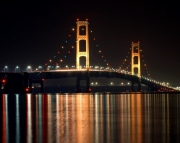 Mackinac Bridge at Night Picture Puzzle