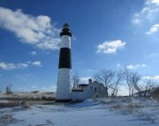 Big Sable Point Winter Picture Puzzle