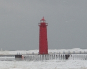 Muskegon South Breakwater Light Winter Picture Puzzle