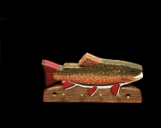 Brook Trout key holder with 4 hooks