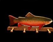 Brook Trout 4 peg coat holder