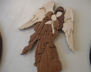 Intarsia Wood Angel