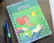 The Little Mermaid - Recycled Handmade Journal