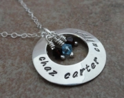 Mother's Necklace - Sterling Silver Custom stamped