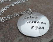 Mommy Necklace - custom hand stamped necklace