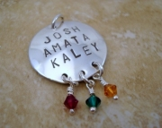 Mother's Pendant - with Birthstone Crystals