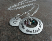 Mommy and Anniversary Necklace - Sterling Silver Custom Stamped